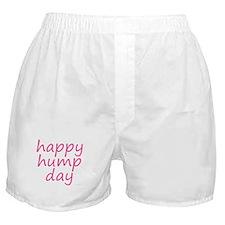 happy hump day pink Boxer Shorts
