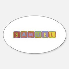 Samuel Foam Squares Oval Decal