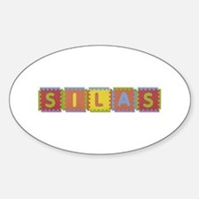 Silas Foam Squares Oval Decal
