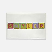 Skyler Foam Squares Rectangle Magnet