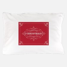 Vintage Christmas typography Pillow Case