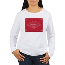 Vintage Christmas typography Long Sleeve T-Shirt