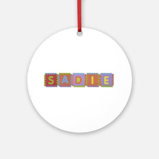 Sadie Foam Squares Round Ornament