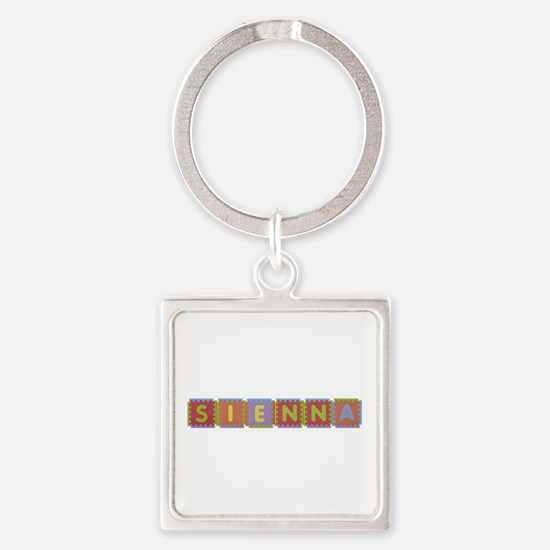 Sienna Foam Squares Square Keychain
