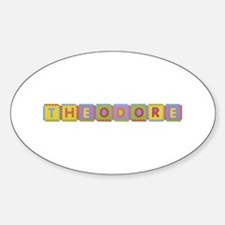 Theodore Foam Squares Oval Decal