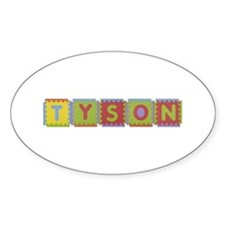 Tyson Foam Squares Oval Decal
