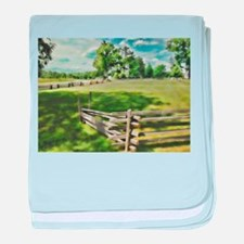Farm Fence Color baby blanket