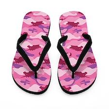 Pink Unicorn Camouflauge Flip Flops