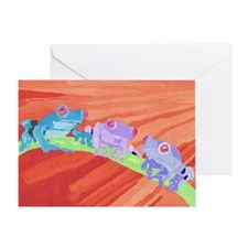 We Frogs Three Greeting Card