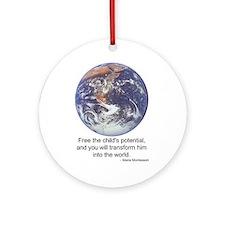 Montessori World - Potential Ornament (Round)