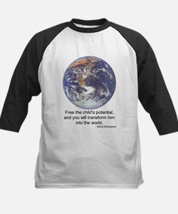 Montessori World - Potential Kids Baseball Jersey