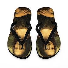 Mona Lisa Flip Flops