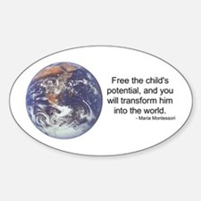 Montessori World - Potential Oval Decal