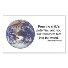 Montessori World - Potential Rectangle Decal