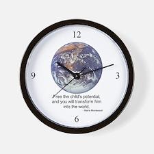 Montessori World - Potential Wall Clock