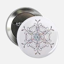 "Iridescent Snowflake 2.25"" Button"