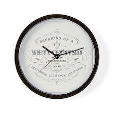 Vintage White Christmas Wall Clock