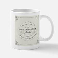 Vintage White Christmas Mug