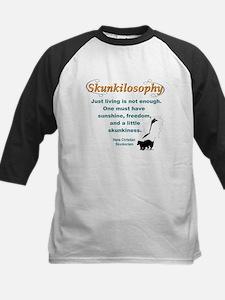 Skunkilosophy Just Living Baseball Jersey