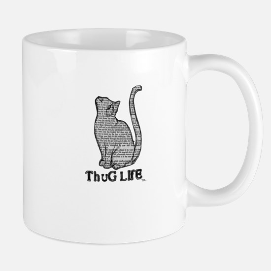 thug life kitty cat kitten Mug