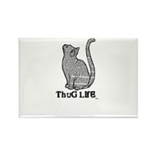 thug life kitty cat kitten Rectangle Magnet