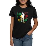 Retro Peace & Love Women's Dark T-Shirt