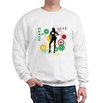 Retro Peace & Love Sweatshirt