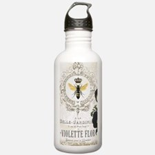 Modern Vintage French Pansies Water Bottle