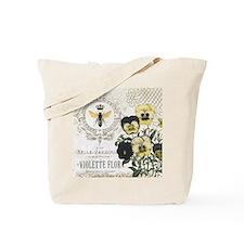Modern Vintage French Pansies Tote Bag