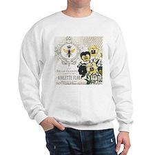 Modern Vintage French Pansies Sweatshirt