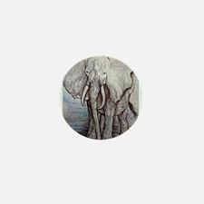 African elephant, wildlife art Mini Button (10 pac