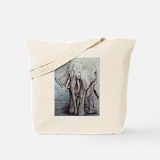 African elephant, wildlife art Tote Bag