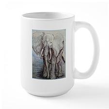 African elephant, wildlife art Mug
