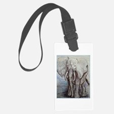 African elephant, wildlife art Luggage Tag