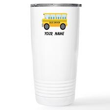 Personalized School Bus Driver Thermos Mug