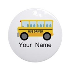 Personalized School Bus Driver Ornament (Round)