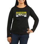 AC Chick NJ Vanity Plate Women's Long Sleeve Dark