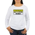 AC Chick NJ Vanity Plate Women's Long Sleeve T-Shi