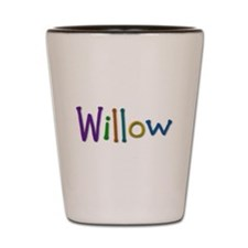 Willow Play Clay Shot Glass