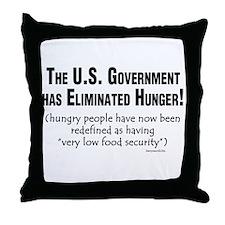 No More Hunger! Throw Pillow