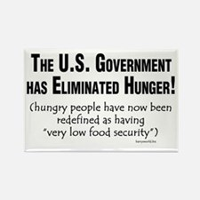 No More Hunger! Rectangle Magnet (10 pack)