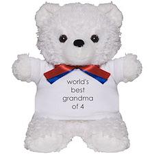 worlds best grandma of 4 Teddy Bear