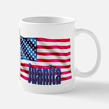 Juanita Patriotic American Flag Mug