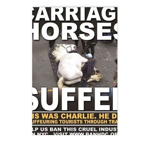 Carriage Horses Suffer ad Postcards (Package of 8)