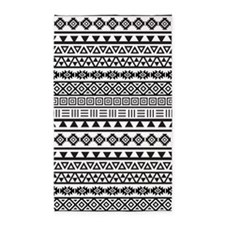 Aztec Influence Pattern B/w 3'x5' Area Rug