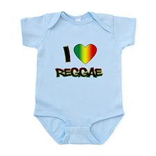 """I """"Love"""" Reggae Body Suit"""