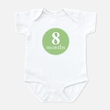 8 Months Old Green Infant Bodysuit