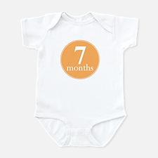 7 Months Old Orange Infant Bodysuit