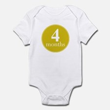 4 Months Old Lemon Yellow Infant Bodysuit