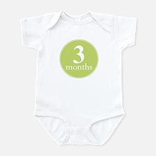 3 Months Old Kiwi Green Infant Bodysuit